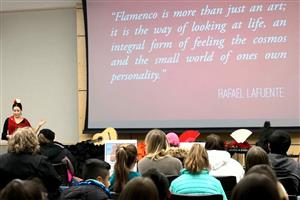 Students attend flamenco presenation
