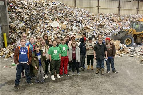 Green Team Tours Recycling Plant in Utica