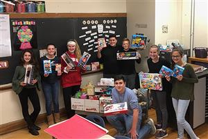 Middle School Students Collect Items for Those in Need
