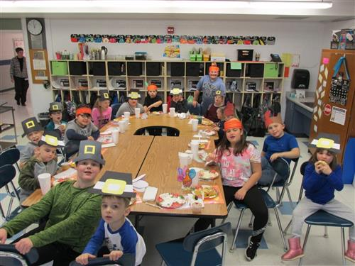 Ms. Arcuri and Mr. Nitti's Classes Celebrate with Annual Thanksgiving Feast