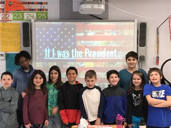 Students Convince Classmates They Can Be President for President's Day Project