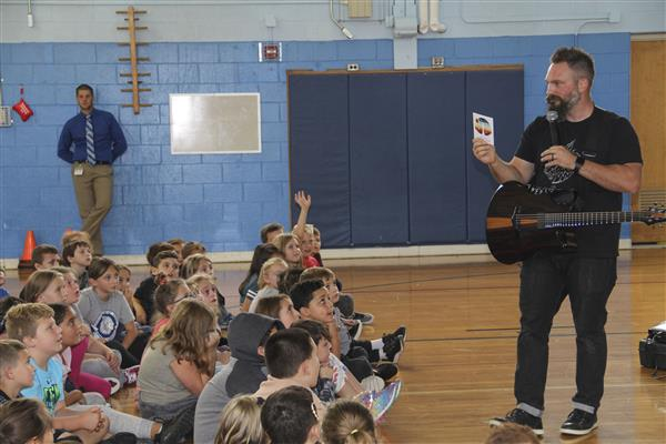 Motivational Singer, Songwriter Jared Campbell Performs at Elementary Schools