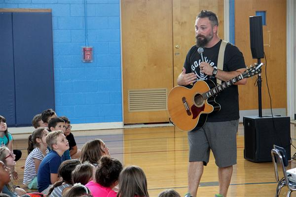 Jared Campbell, Motivational Singer, Songwriter and Speaker, Visits Elementary Schools