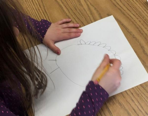 Deerfield First Graders Use Directed Drawing to Create Art Pieces
