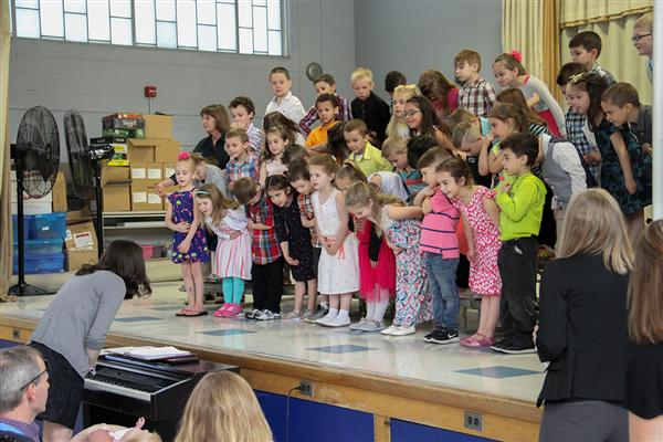 "Deerfield Elementary Kindergartners Hold ""Spring Showcase"""