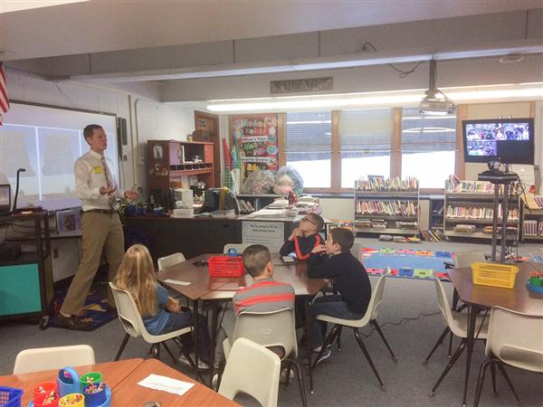 SAGE Program Connects Monthly Visitor to Whitesboro's Four Elementary Schools