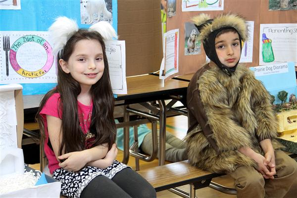 First Grade Wax Museum Comes to Deerfield Elementary School