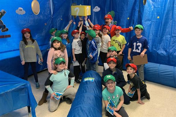 Hart's Hill 4th Graders Take on Super Mario World Reading Challenge
