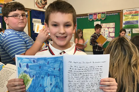Hart's Hill Third Grade Class Writes, Publishes Book of Fables