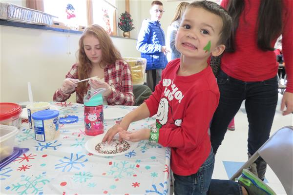 Santa Visits Marcy Elementary For Annual Breakfast
