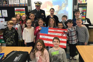 Veterans Visit Miss Sutliff's Third Graders to Teach Them about Veterans Day