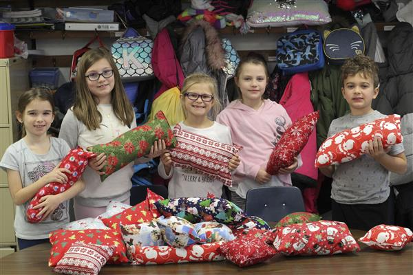 Ms. Tucci's Third Graders Make, Donate Comfort Pillows for Hospice Patients