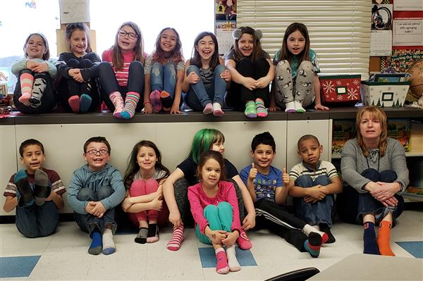 'Lots of Socks' for World Down Syndrome Day at West. Rd.