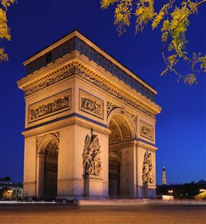 L'Arc de Triomphe, Paris France