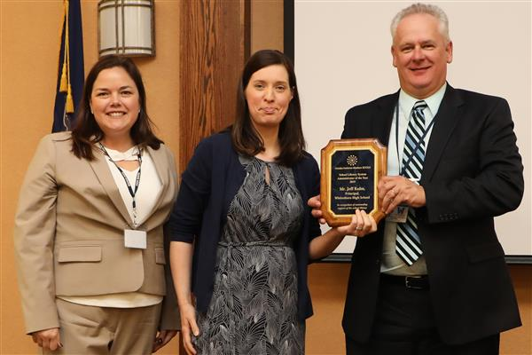 High School Principal Jeffrey Kuhn Awarded as Administrator of the Year by School Library System