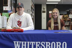 Two Whitesboro Athletes Sign Letters of Intent to Play in College