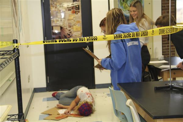Mock Crime Scene Puts Forensic Science Students' Knowledge to the Test