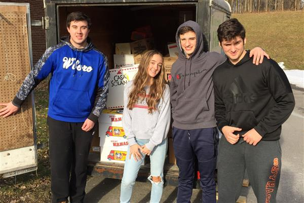 High School Community Donates Over 3,000 Pounds of Food to Utica Rescue Mission