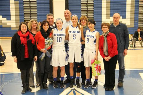 Girls Varsity Basketball Senior Night