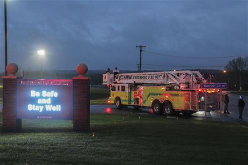 Whitesboro CSD, Local First Responders Light the Night to Support Class of 2020