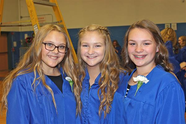 Middle School National Junior Honor Society Inducts 77