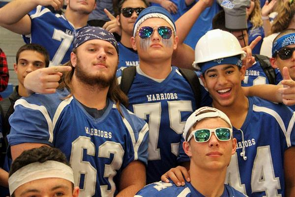 Pep Rally, Homecoming Parade Embody Blue and White Spirit