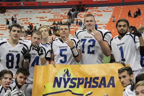 Varsity Football Team Wins Third Straight Section Championship