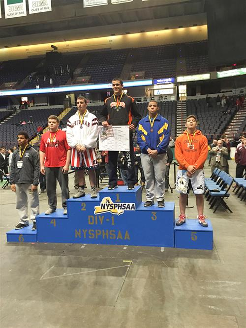 Tyler Hudson places 3rd at State Wrestling Competition