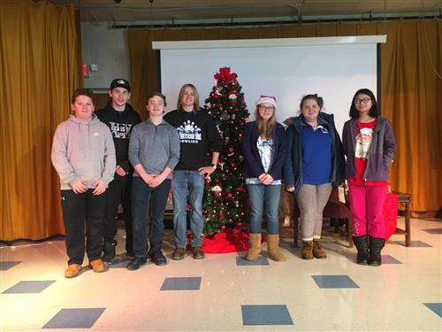 Boys and Girls Bowling Teams Help with Marcy Elementary's Breakfast with Santa