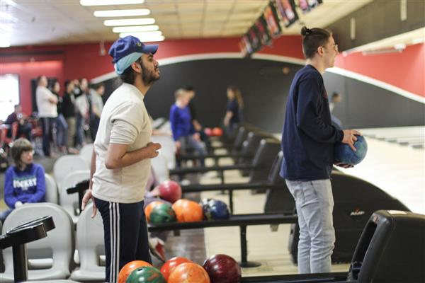 Unified Bowling Team Faces School Administration in Friendly Competition