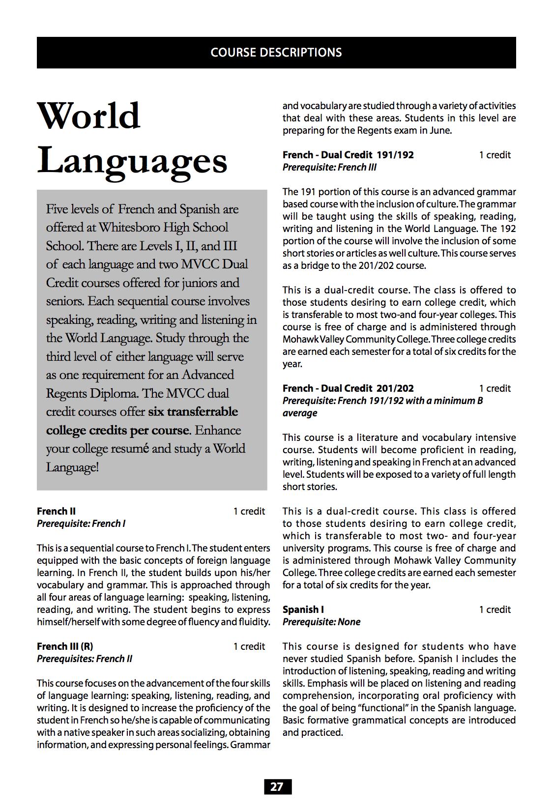 World Languages Course Descriptions - Total languages in world