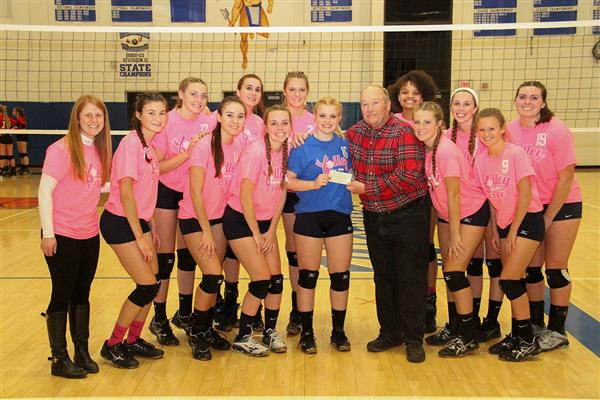 Volleyball Program Hosts 9th Annual Pink Game; Varsity and JV Teams Beat VVS