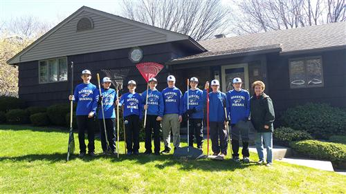 modified baseball team spring cleaning