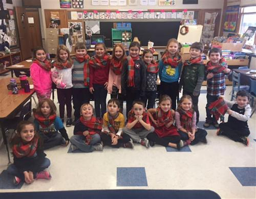 class picture wearing scarves