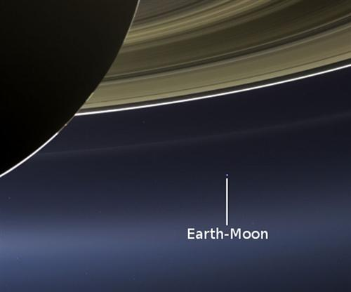 Photograph of Earth from Saturn (...taken by the Cassini Probe)